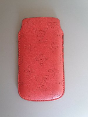 Louis Vuitton Mobile Phone Case orange leather
