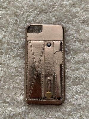 Étui pour téléphone portable or rose-doré