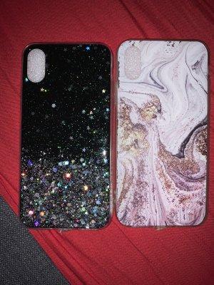 Carcasa para teléfono móvil negro-lila grisáceo