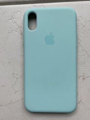 Apple Mobile Phone Case turquoise synthetic material