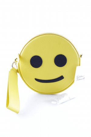"Iphoria Clutch ""Round Micro Shoulder Smiley"" gelb"