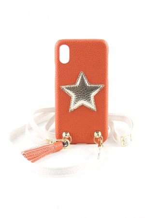 Iphoria Mobile Phone Case light orange-gold-colored themed print casual look