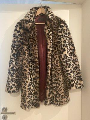 IQ+ Berlin Płaszcz ze sztucznym futrem jasnobeżowy-beżowy