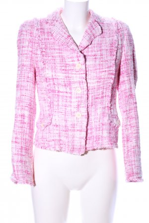 IQ+ Berlin Tweedblazer pink-weiß Karomuster Casual-Look