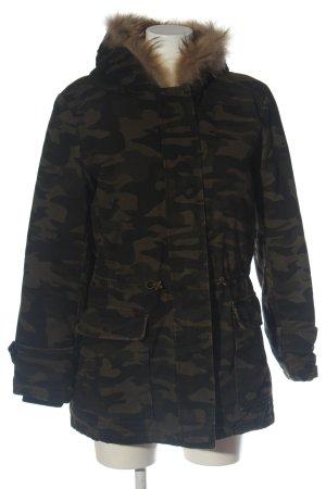 IQ+ Berlin Winterjacke braun-schwarz Camouflagemuster Casual-Look