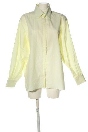 IRÁRO Langarmhemd blassgelb-weiß Streifenmuster Casual-Look