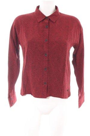 Iriedaily Hemd-Bluse rot-braun Allover-Druck Casual-Look
