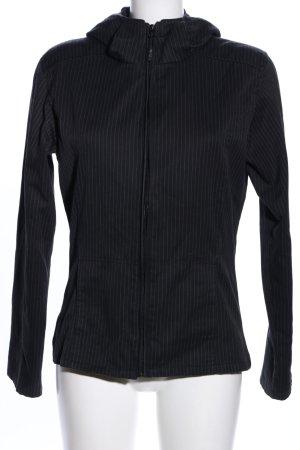 Iriedaily Kapuzenjacke schwarz-weiß Streifenmuster Casual-Look