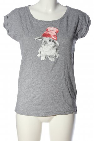 Iriedaily T-Shirt hellgrau meliert Casual-Look