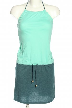 Iriedaily Halter Dress turquoise flecked casual look