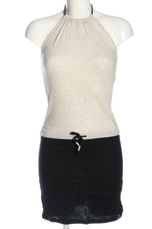 Iriedaily Robe dos-nu blanc cassé-noir moucheté style décontracté