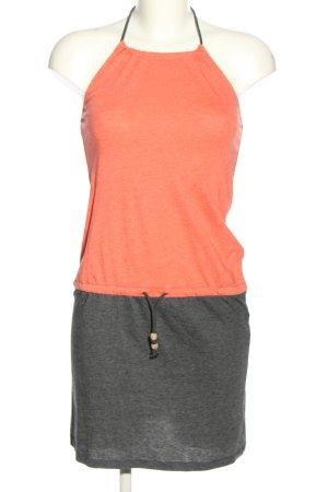 Iriedaily Vestido de cuello Halter naranja claro-gris claro moteado look casual