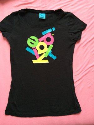 Iriedaily Oberteil Shirt t-shirt schwarz Größe 34 xs 36 S Shirt