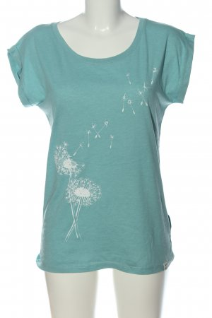 Iriedaily Print-Shirt türkis-weiß Motivdruck Casual-Look