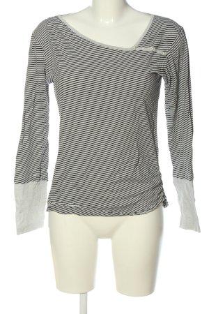 Iriedaily Stripe Shirt black-light grey striped pattern casual look