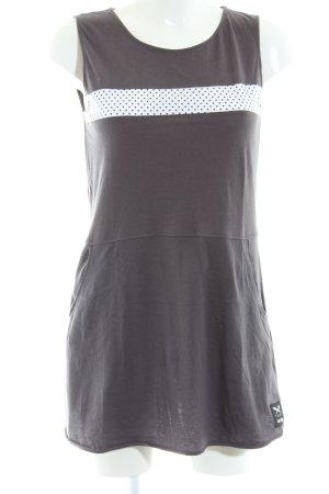 Iriedaily Shirtkleid hellgrau-weiß Punktemuster Casual-Look
