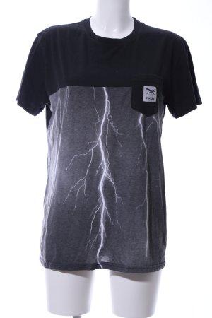 Iriedaily T-Shirt schwarz-hellgrau Motivdruck Casual-Look