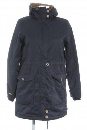 Iriedaily Winter Coat dark blue simple style