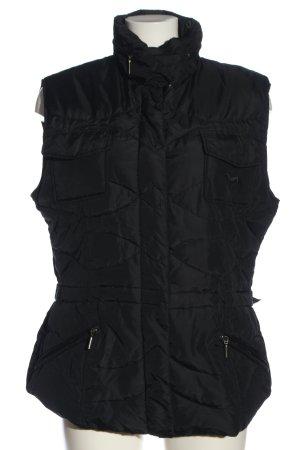 Iris Bayer Pikowana kamizelka czarny Wyhaftowany logo W stylu casual