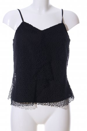 Iris & Ink Lace Top black allover print casual look
