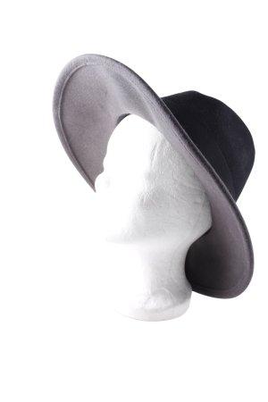 Iris & Ink Wollen hoed zwart-grijs boyfriend stijl