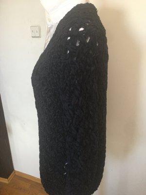 Iris von Arnim Coarse Knitted Jacket dark blue cotton