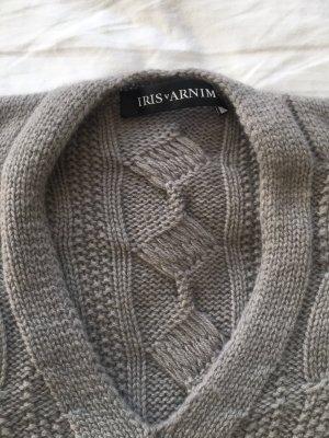 Iris von Arnim Pull en cashemire argenté-gris clair