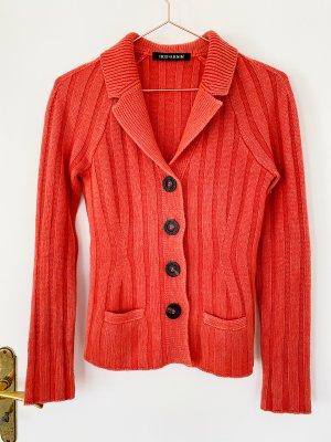 Iris von Arnim Giacca in maglia rosso mattone-rosso scuro Cachemire