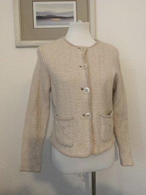 Iris von Arnim Blazer in lana crema-rosa pallido