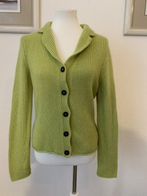 Iris von Arnim Coarse Knitted Jacket lime-green-grass green