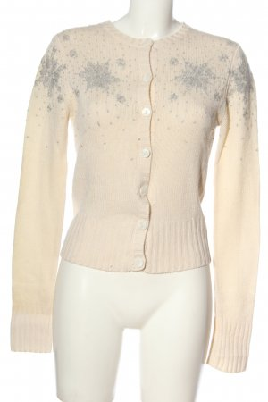 Iris von Arnim Cashmere Jumper cream-light grey allover print casual look