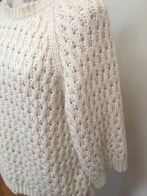 Iris von Arnim Pullover a maglia grossa bianco sporco Lana