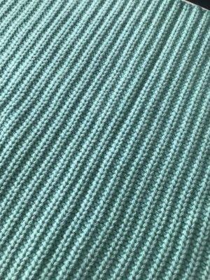 Iris von Arnim Sciarpone verde-grigio-blu cadetto Cachemire