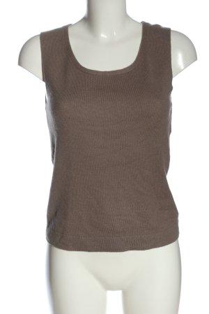Iris von Arnim Smanicato lavorato a maglia marrone puntinato stile casual