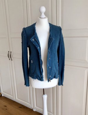 Iro Tweed Blazer slate-gray-cornflower blue