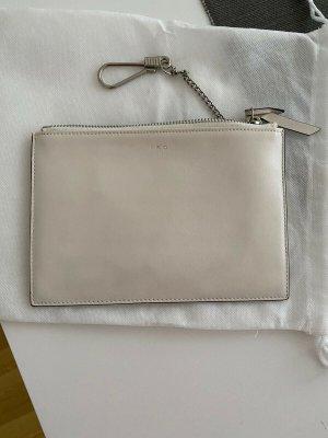 IRO Clutch weiß silber neu - ohne Etikett // Leder