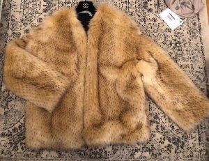 Iro Kunstfelljacke Faux Fur Mytheresa Luxus beige Nude braun