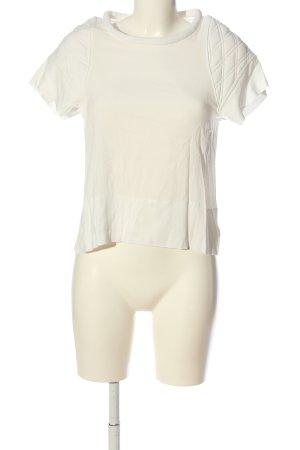 Iro Camicetta a maniche corte bianco motivo trapuntato stile casual