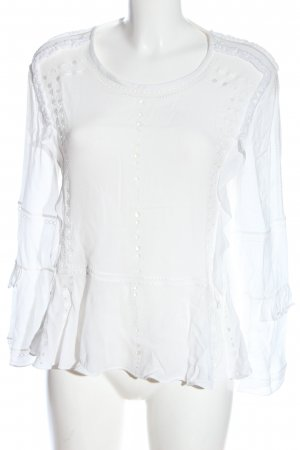 Iro Langarm-Bluse weiß Casual-Look