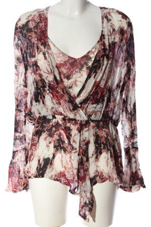 Iro Langarm-Bluse abstraktes Muster Casual-Look