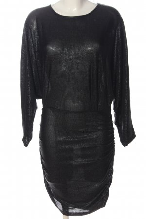 Iro Longsleeve Dress black flecked wet-look