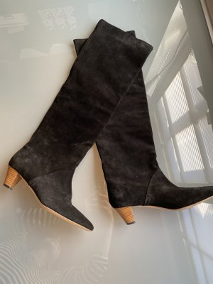 IRO Paris Buty nad kolano czarny-brązowy Skóra