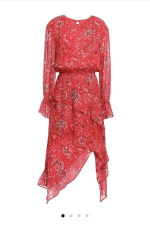 IRO Rote Blumen Damenkleid FR34 Viscose