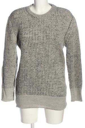 Iro Maglione girocollo grigio chiaro puntinato stile casual