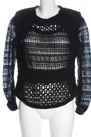 Iro Lace Blouse black cable stitch casual look