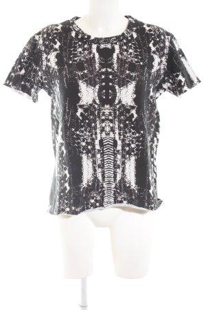 Iro Sweatshirt schwarz-weiß Allover-Druck Casual-Look