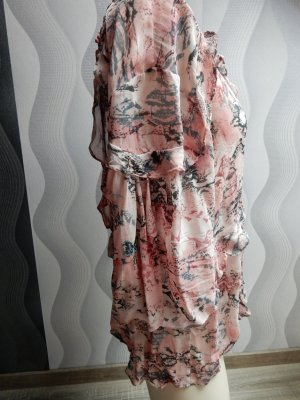 Blouse oversized rose clair viscose