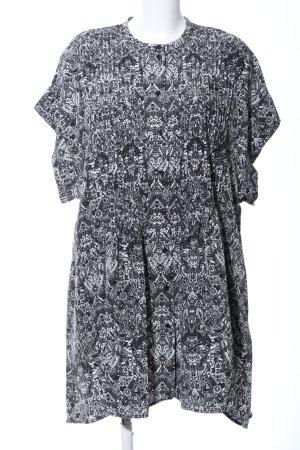 Iro Tunikabluse schwarz-weiß grafisches Muster Business-Look