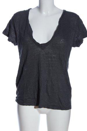 Iro V-Ausschnitt-Shirt hellgrau Casual-Look