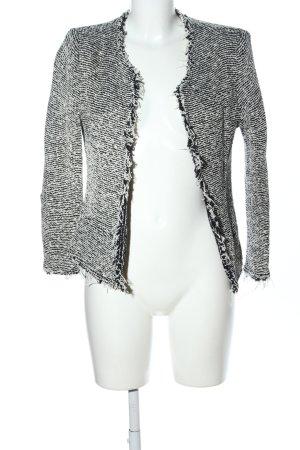 Iro Blazer in lana nero-grigio chiaro motivo a righe stile casual